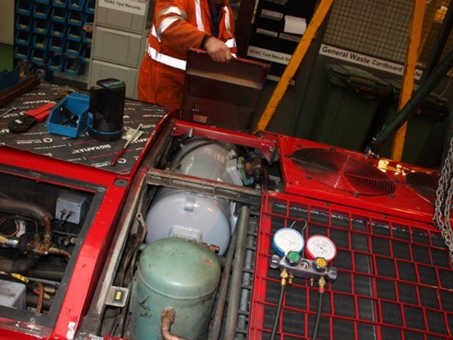 Servicing Air-Conditioning on Modern Trains